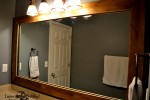 master bath mirror after side view