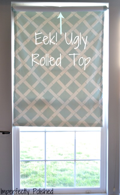 Fabric Covered Roller Shade Imperfectly Polished