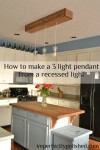 how to make a pendant light from a recessed light