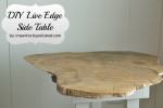 live edge side table tutorial