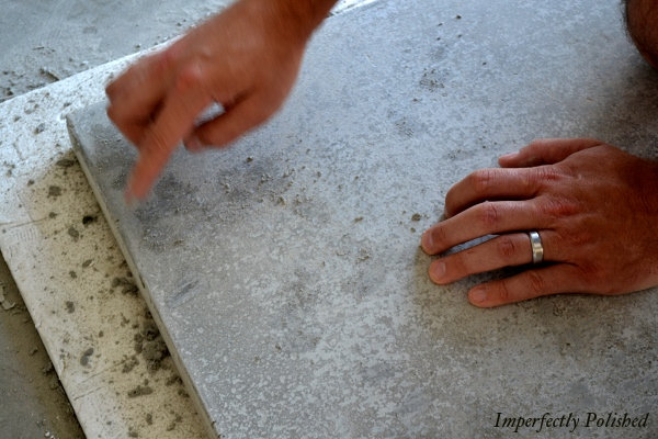 Diy Concrete Counters Sand Seal Wax